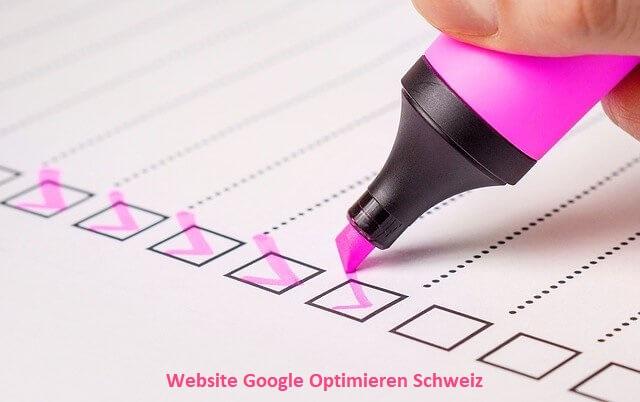 website google optimieren schweiz